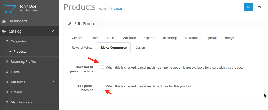 OpenCart product attributes