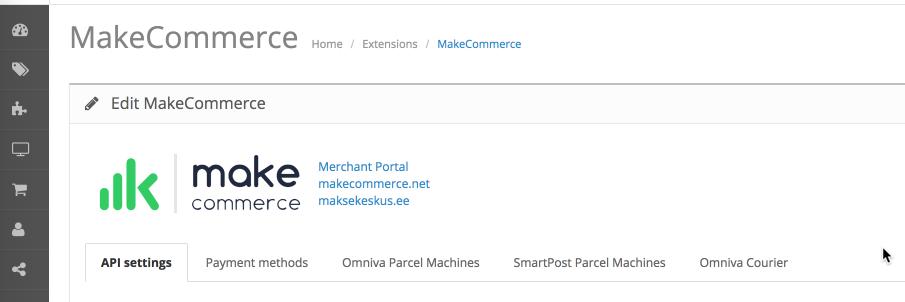 OpenCart module header
